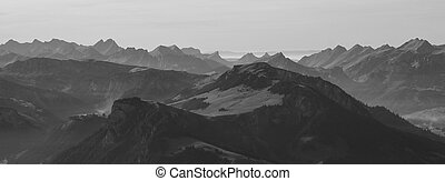 Mountains in the Bernese Oberland - Wiriehore and other...