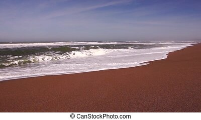 Pacific ocean in California - Panoramic view of Pacific...