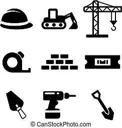 Builders Site Icons - This image is a illustration and can...