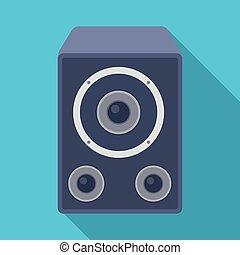 Subwoofer for loud music.Party and parties single icon in...