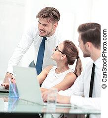 仕事, ビジネス, オフィス, 写真, 現代, 若い, チーム