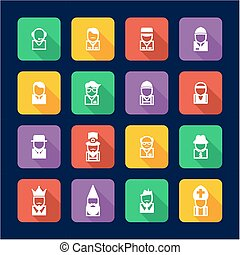 Avatar Icons Set 4 Flat Design - This image is a...