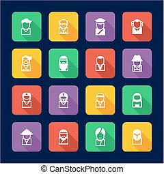 Avatar Icons Set 3 Flat Design - This image is a...