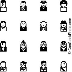 Avatar Icons Famous Musicians Set 1 - This image is a...