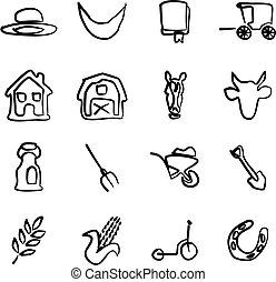 Amish Icons Freehand - This image is a illustration and can...