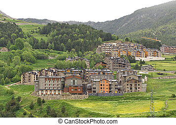 Little village in Pyrenees - Little village situated in the...
