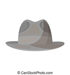 Brown hat with a brim. Headdress investigator for...