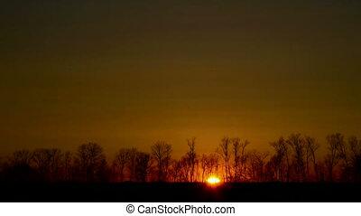Timelapse sunrise. Brightness stabilized