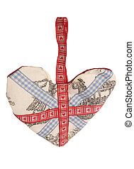 Union jack fabric Heart decoration studio cutout