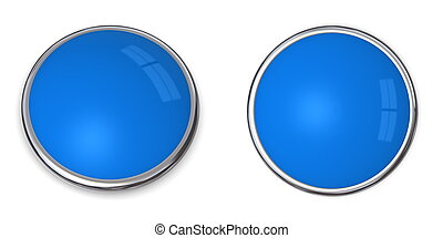 3D Button Solid Light Blue - 3D button in solid light blue,...