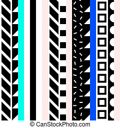 Abstract seamless pattern in 80 90 style