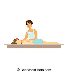 Young woman having a rejuvenating massage in a wellness...