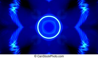 brilliant light pulse and circle