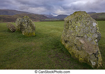 Castlerigg Stone Circle in the Lake District - A panoramic...