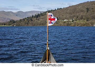 Boat Trip on Lake Windermere - The Pilot Jack (Union Flag...