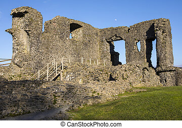 Kendal Castle in Cumbria - A view of the ruins of the...