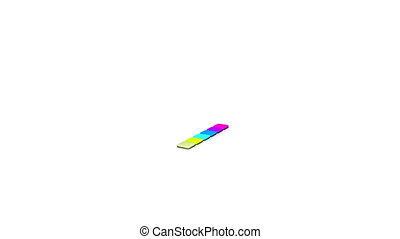 Multicolor diagram growing against white background