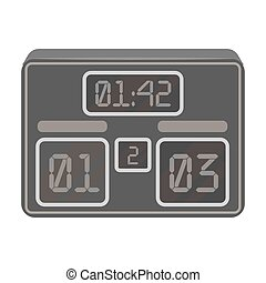 Board with a score of football.Fans single icon in monochrome style vector symbol stock illustration.