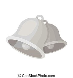 Church bells. Easter single icon in monochrome style vector symbol stock illustration.