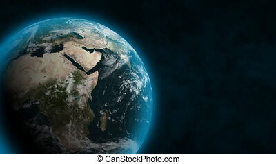 Blue Earth (24fps) - From outer space, Earth rotates with a...