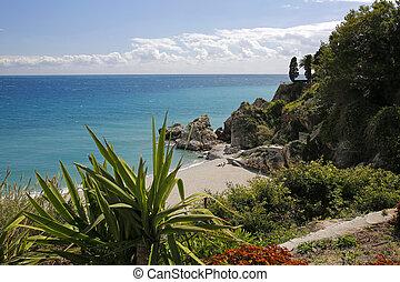 Carabeillo beach in Nerja, Costa del Sol, Spain