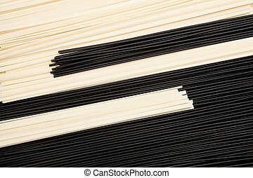 Yin-yan pasta - The unity between black and white - egg...