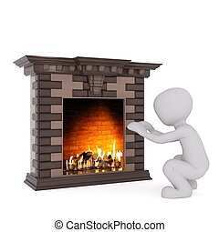 3d man fireplace 45 - 3d man fireplace
