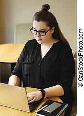 Freelancer - Work. Freelancer in the cafe
