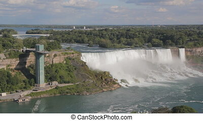 Niagara Falls - Niagara Falls on the American side showing...