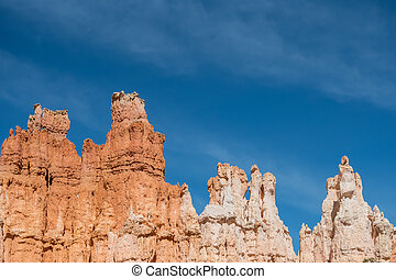 Hoodoos with Whispy Clouds and Copy Space