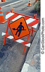 Men at work - Street signaling of men at work