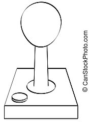 outline of gaming joystick or controller