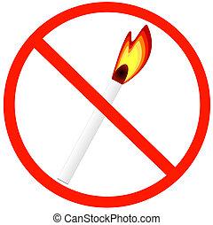 no fires allowed symbol