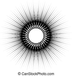 Geometric circular pattern. Abstract monochrome illustration series
