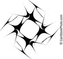 Ilustración, Irradiar, Espiral, Extracto, líneas, Espiral, negro, artístico,  radial, blanco, distorsión,  non-figural