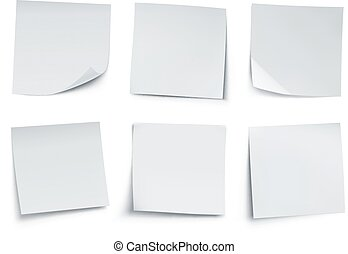 Post it notes - Vector illustration of white post it notes...