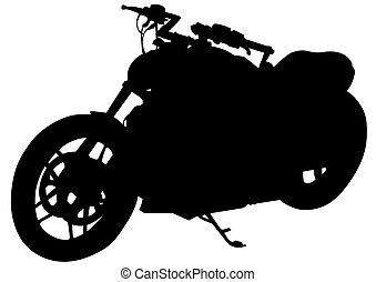 Retro motor vehicle three - Old big bike on white background