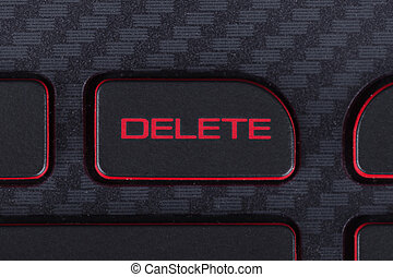 delete button on keyboard of laptop - delete button on the...