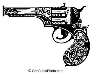 gk112.eps - Vector illustration of gun