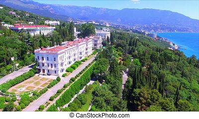 Aerial view on Livadia Palace, Crimea, Yalta