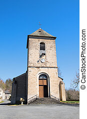 Little church in French Limousin - Little church in Village...