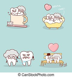 tooth with happy lifestyle