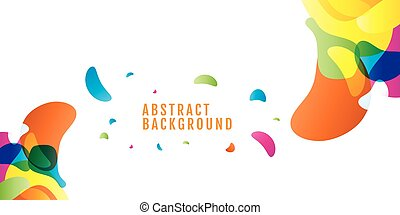 background abstract Colored. Colorful drops with space for text. Vector. on white background