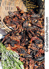 red dried tomatoes typical of southern Italy - cornucopia...