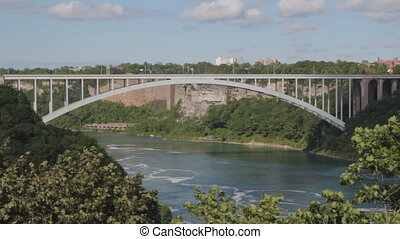 Rainbow bridge - Steel arch bridge that crosses the Niagara...