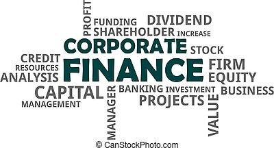 word cloud - corporate finance - A word cloud of corporate...