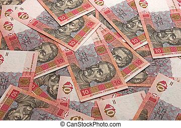 ten hrivnas - money background: ten hrivnas