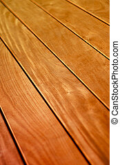 Abstract Background Texture of Wooden Floor Boards With Shallow Depth of Focus