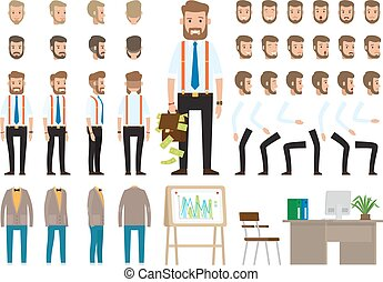 Business Style Create Your Character Vector Poster