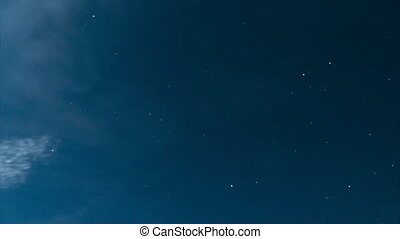 Timelapse of the night sky - Timelapse of the motion of...